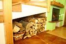 Chata Košútka - Obývacia izba - krb